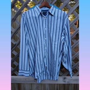 BANANA REPUBLIC striped dress shirt